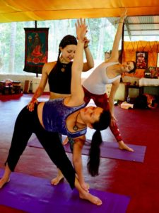 Teaching yoga in India
